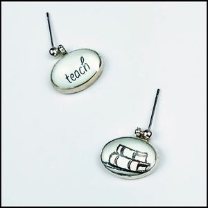 NWT Teacher Gift Earrings with word & picture